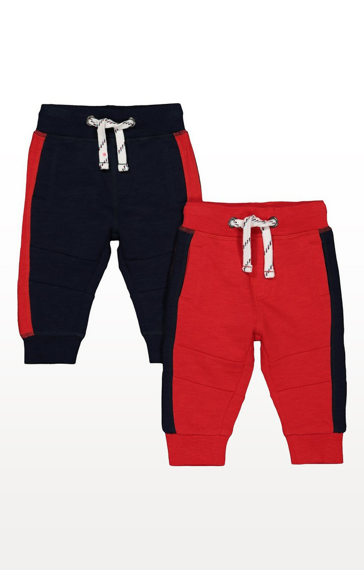 Mothercare | Navy And Red Joggers