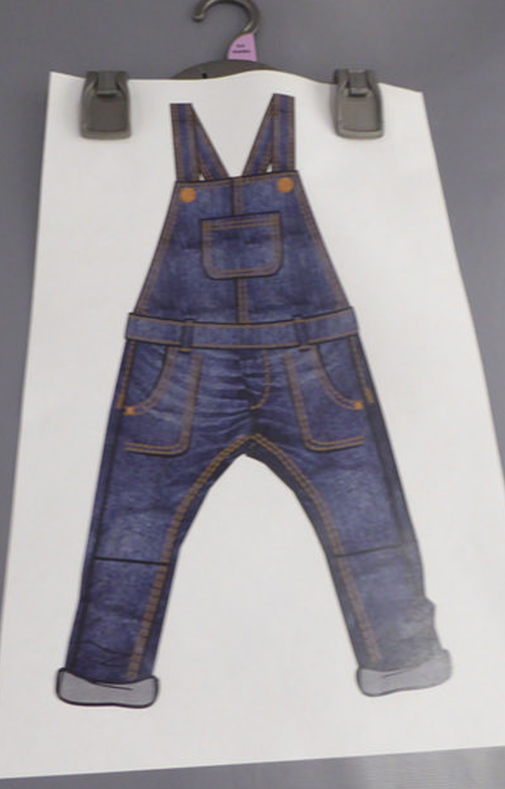 Mothercare | Blue Solid Dungaree