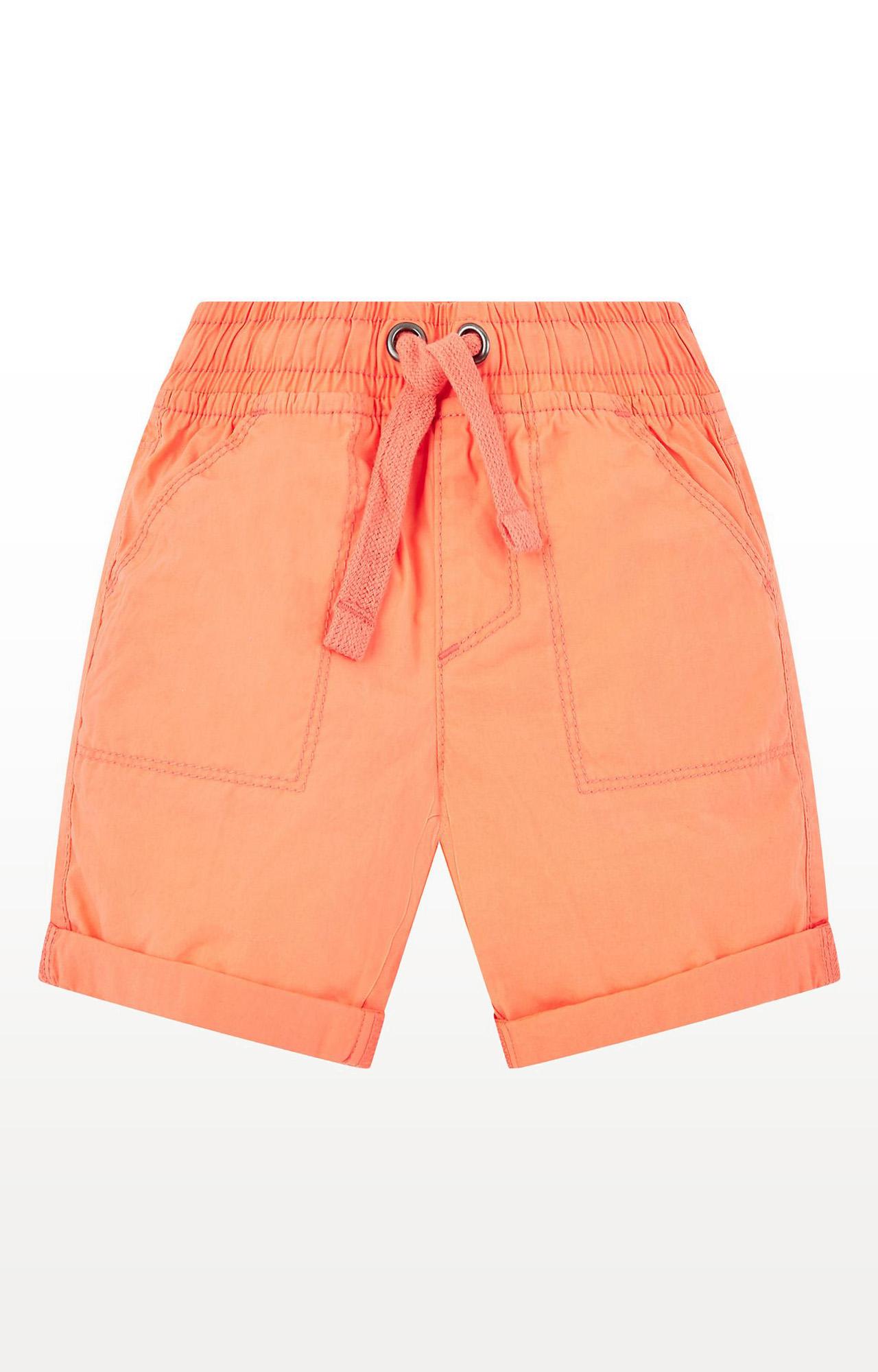 Mothercare   Boys Coral Poplin Shorts - Coral