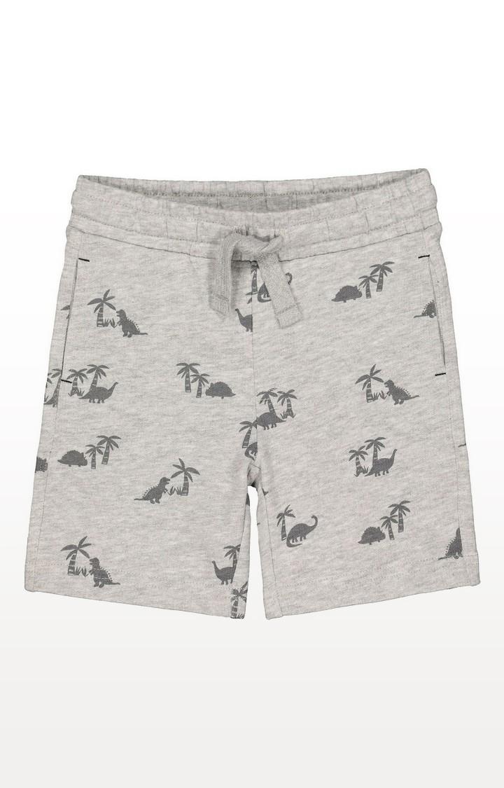 Mothercare | Grey Palm Tree And Dinosaur Shorts