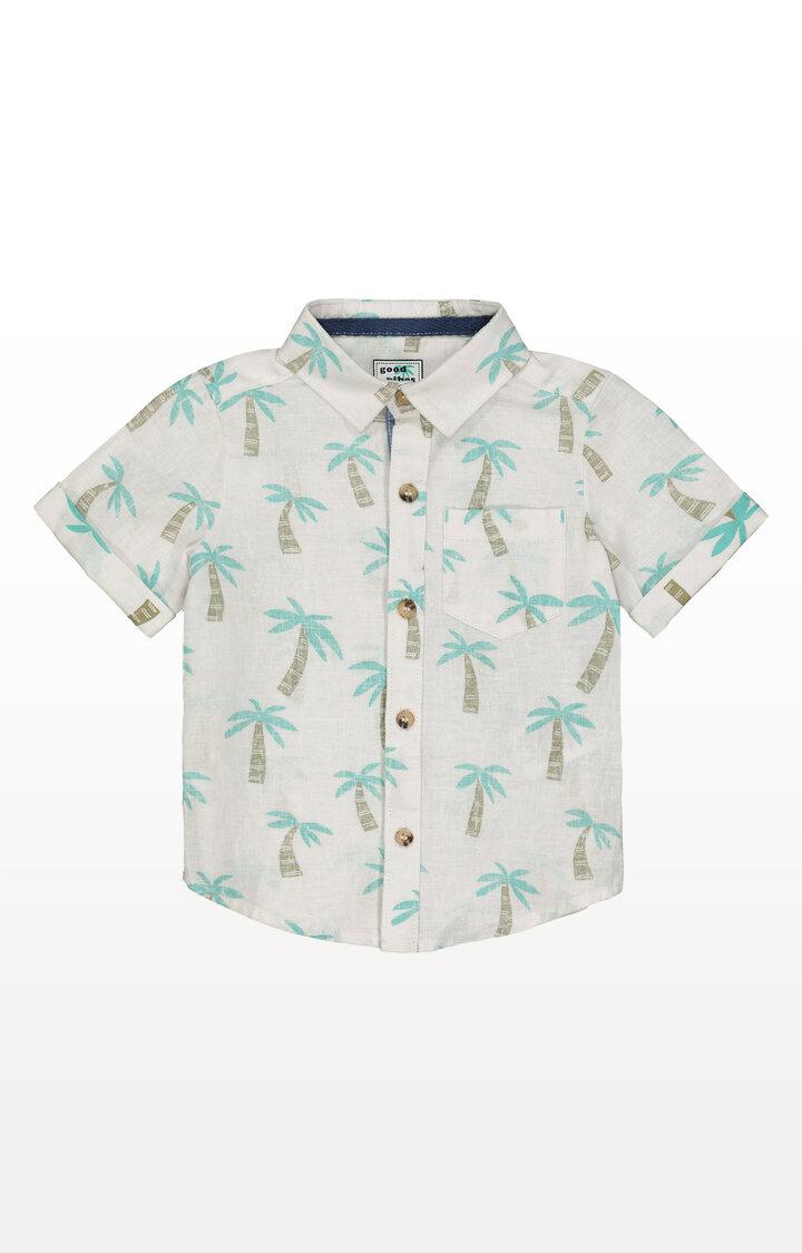 Mothercare | White Palm Tree Shirt