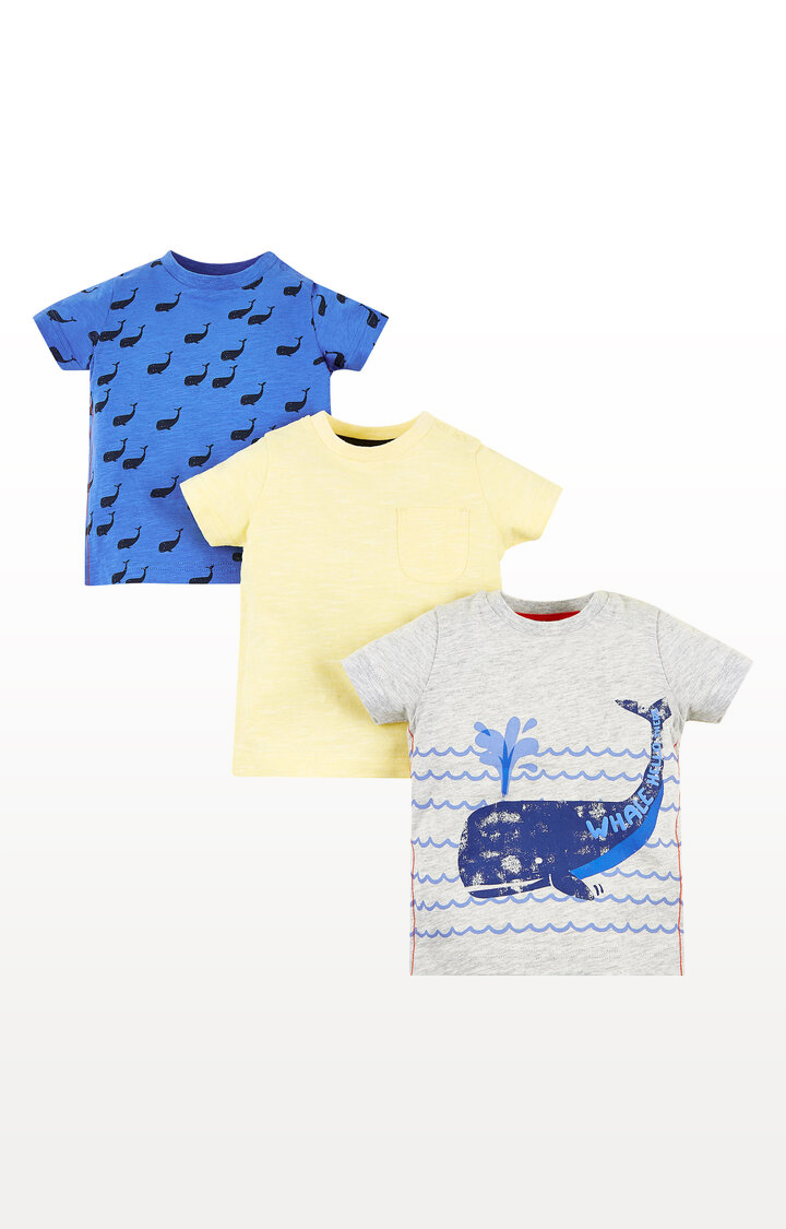 Mothercare | Whale Hello T-Shirts  Pack of 3