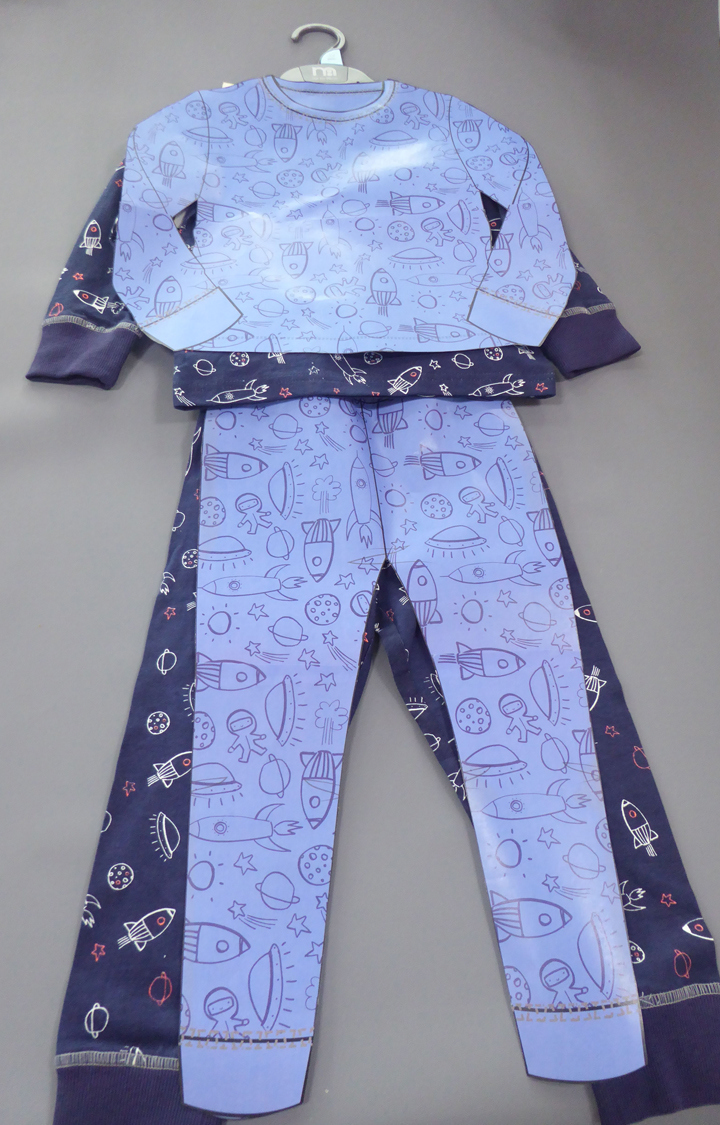 Mothercare | Blue Printed Nightsuit
