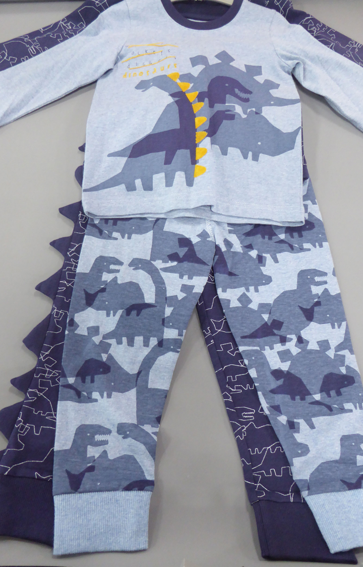 Mothercare | Blue Printed Nightsuit - Pack of 2
