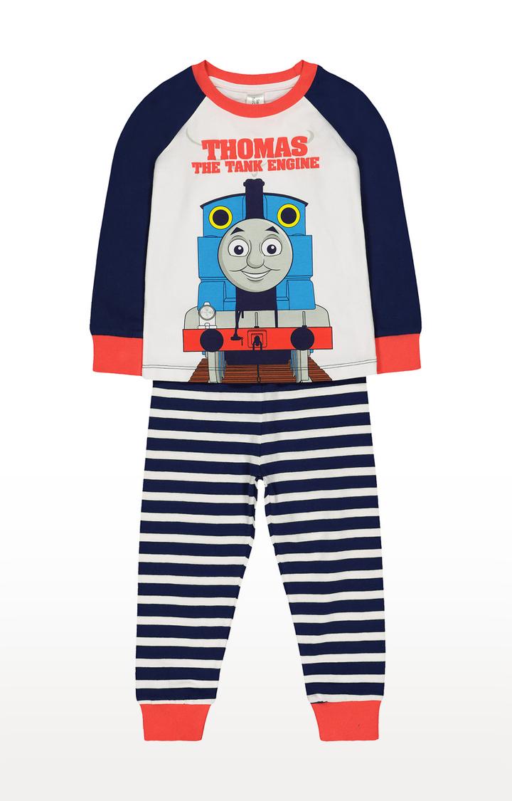Mothercare | Navy and White Printed Sleepwear Pyjamas