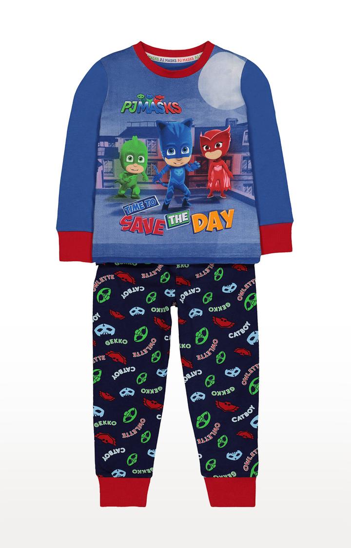 Mothercare | Dark Blue Printed Sleepwear Pyjamas