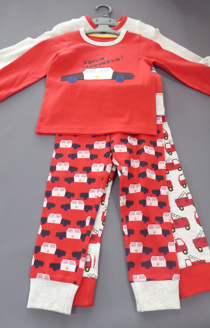 Mothercare | White and Red Printed Nightsuit - Pack of 2