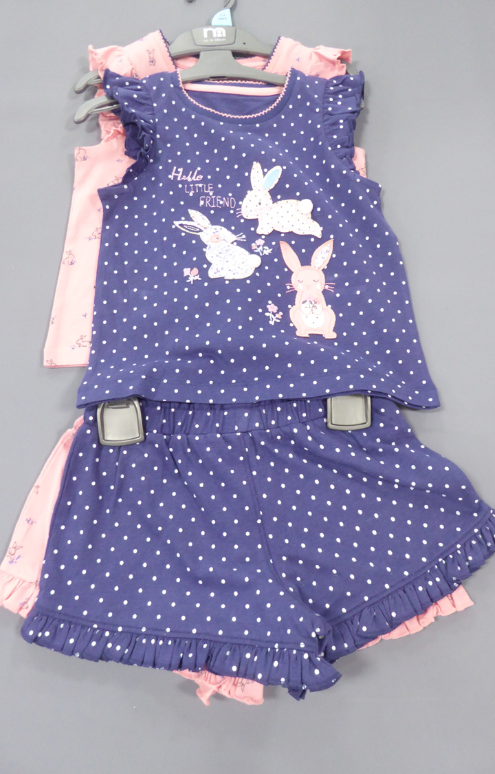 Mothercare | Pink and Blue Printed Nightsuit - Pack of 2