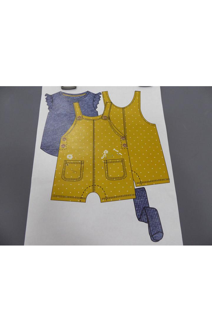 Mothercare | Yellow Printed Dungaree