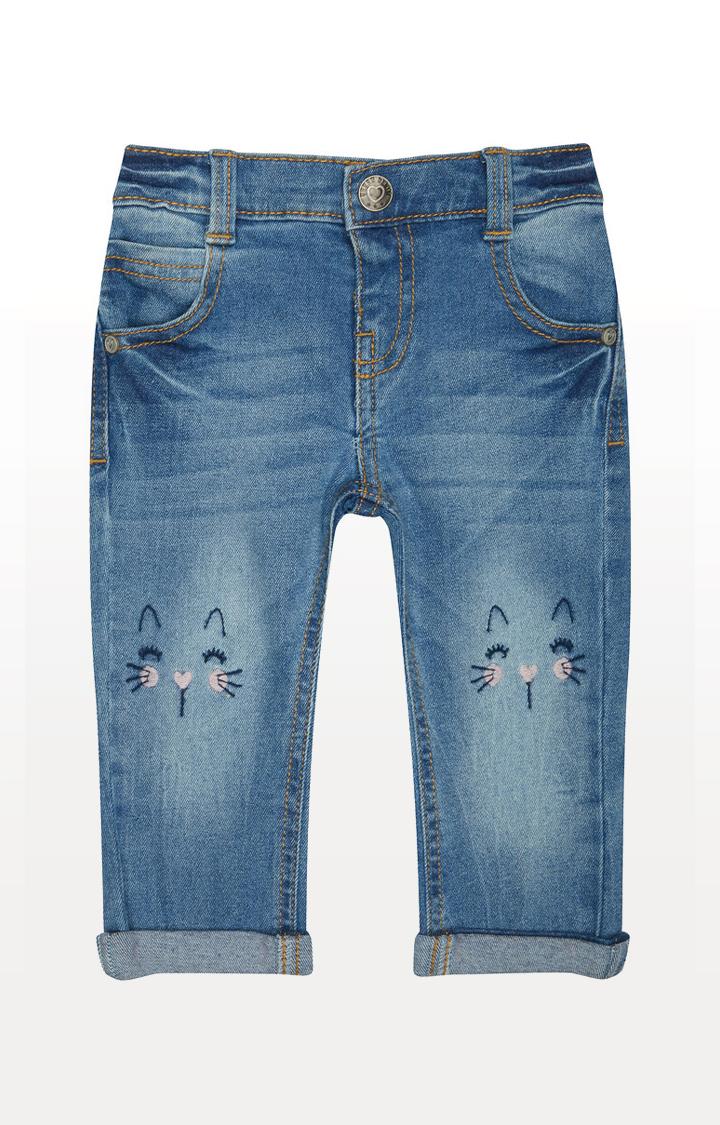 Mothercare | Cute Cat Blue Denim Jeans