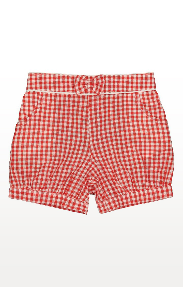 Mothercare | Red And White Bow Gingham Shorts