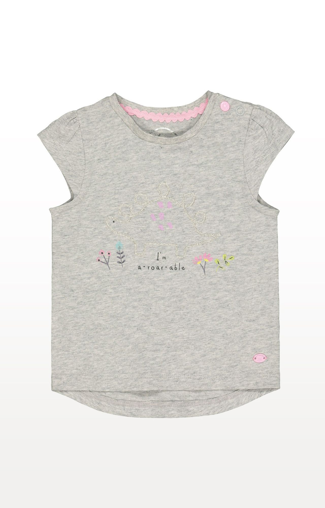 Mothercare | Grey Printed A-Roar-Able T-Shirt