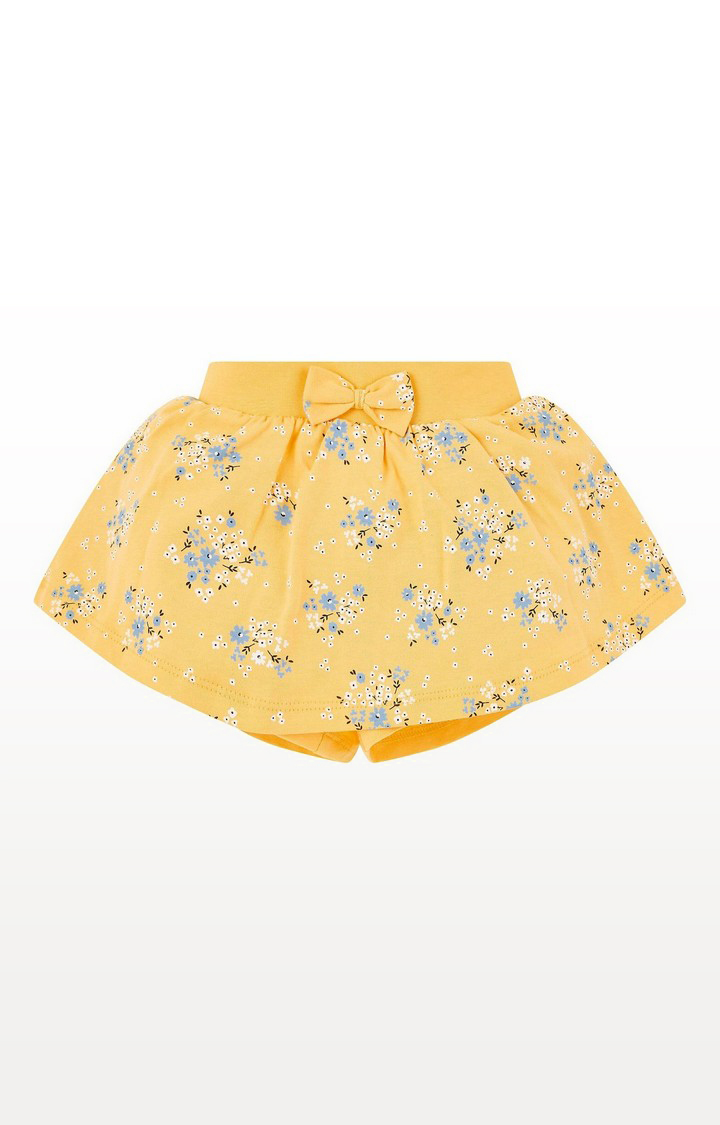 Mothercare | Yellow Floral Skort