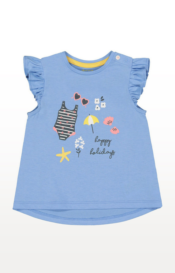 Mothercare | Blue Happy Holidays T-Shirt
