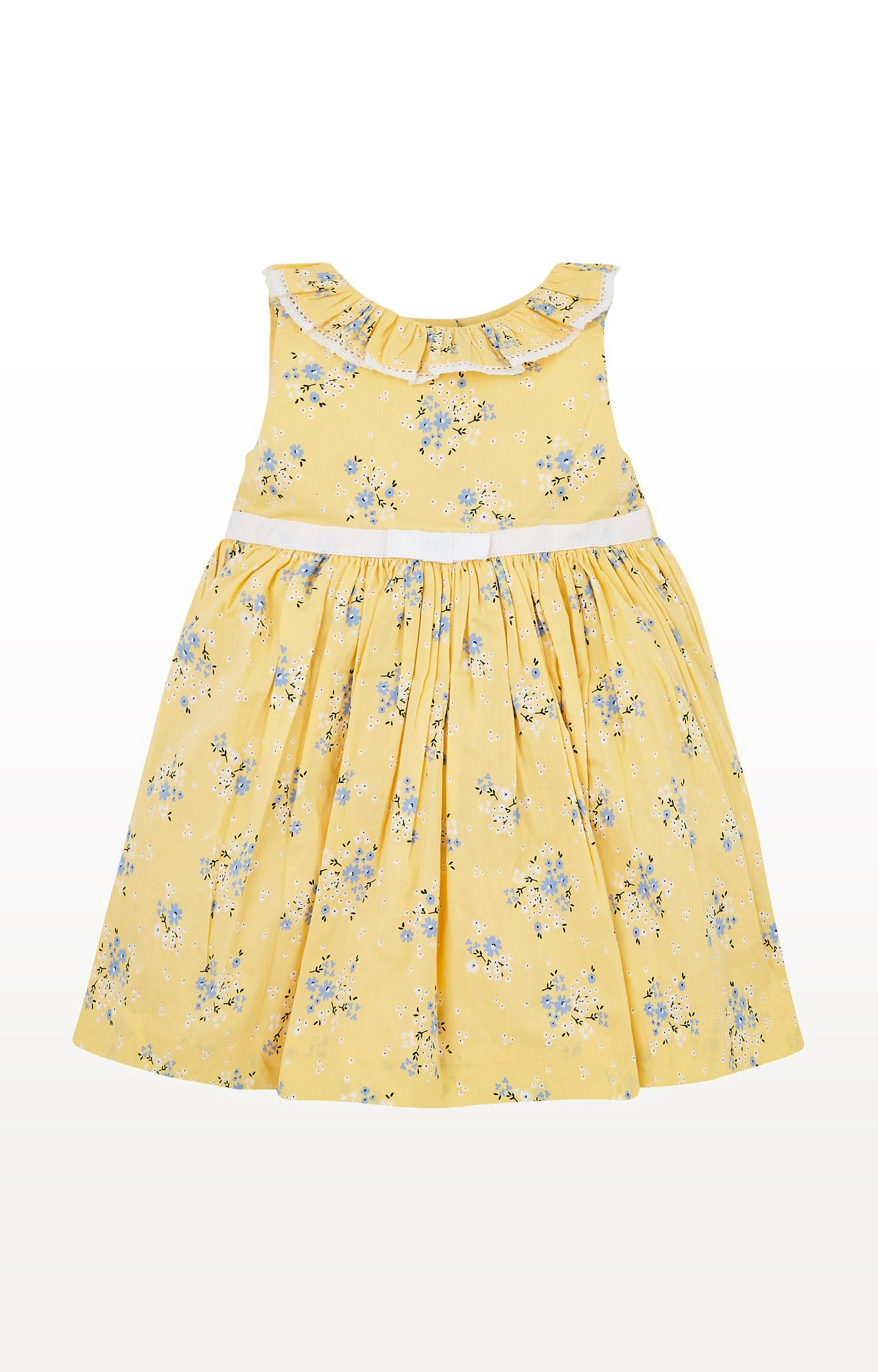 Mothercare | Yellow Printed Floral Dress