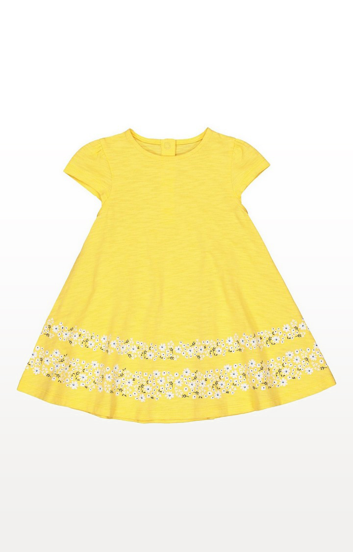 Mothercare | Yellow Floral Border Dress