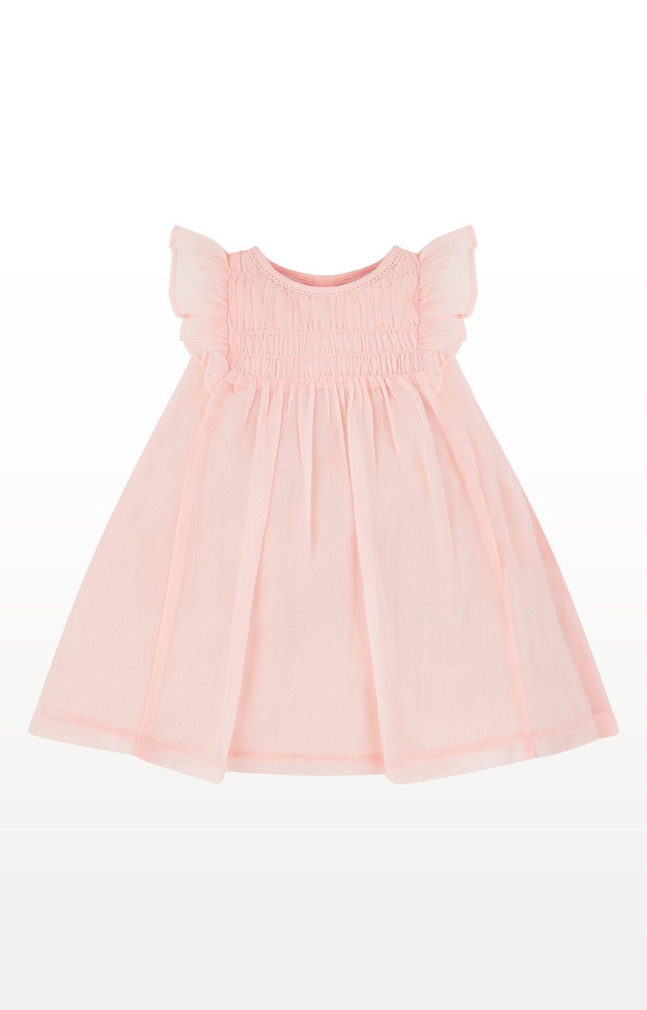 Mothercare | Pink Printed Smock Dress
