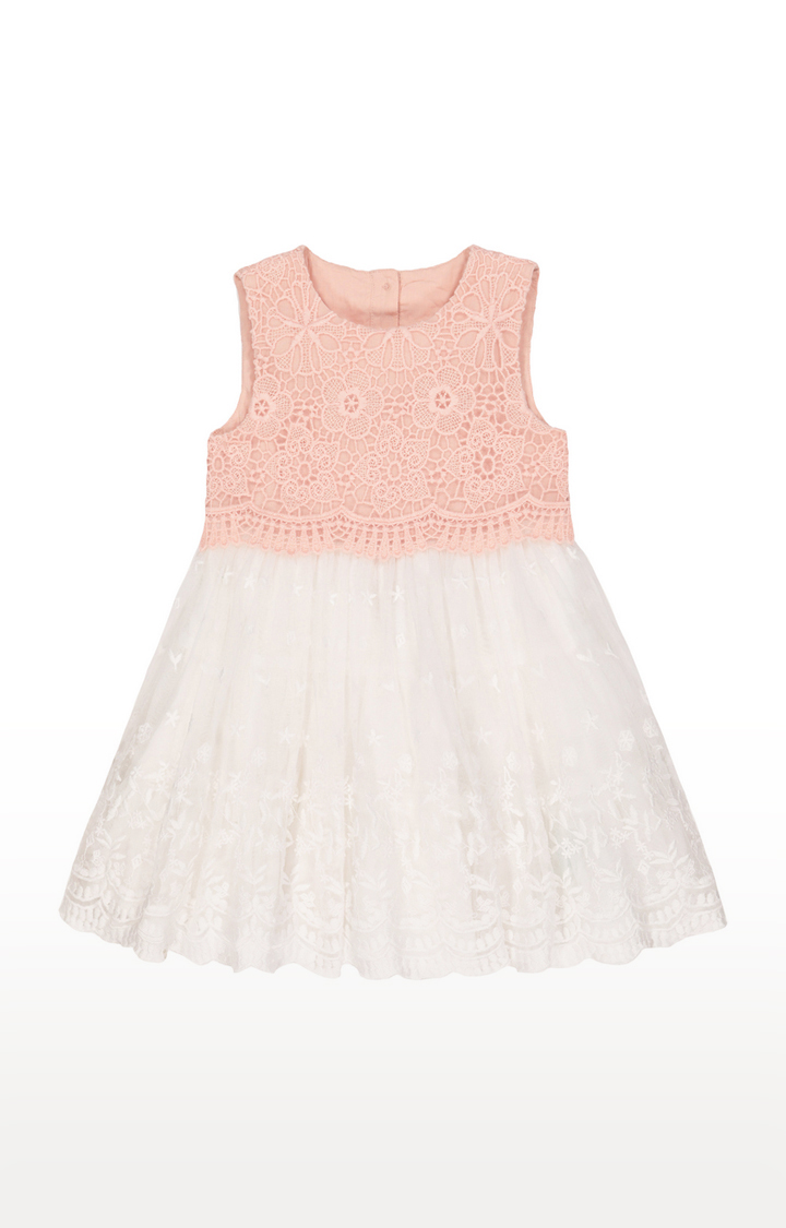 Mothercare | Peach and White Printed Dress