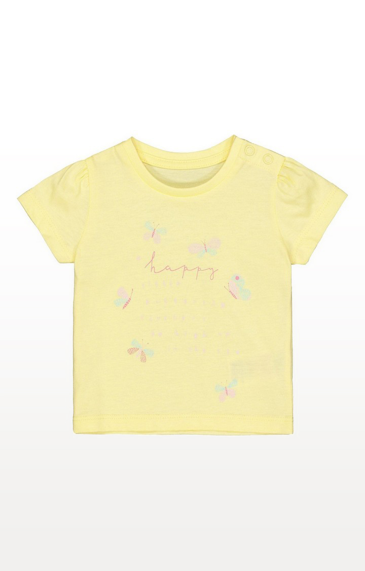 Mothercare   Yellow Butterfly T-Shirt