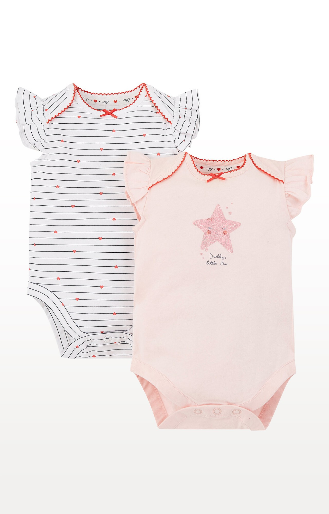 Mothercare | Daddy'S Little Star and Heart Bodysuits - Pack of 2