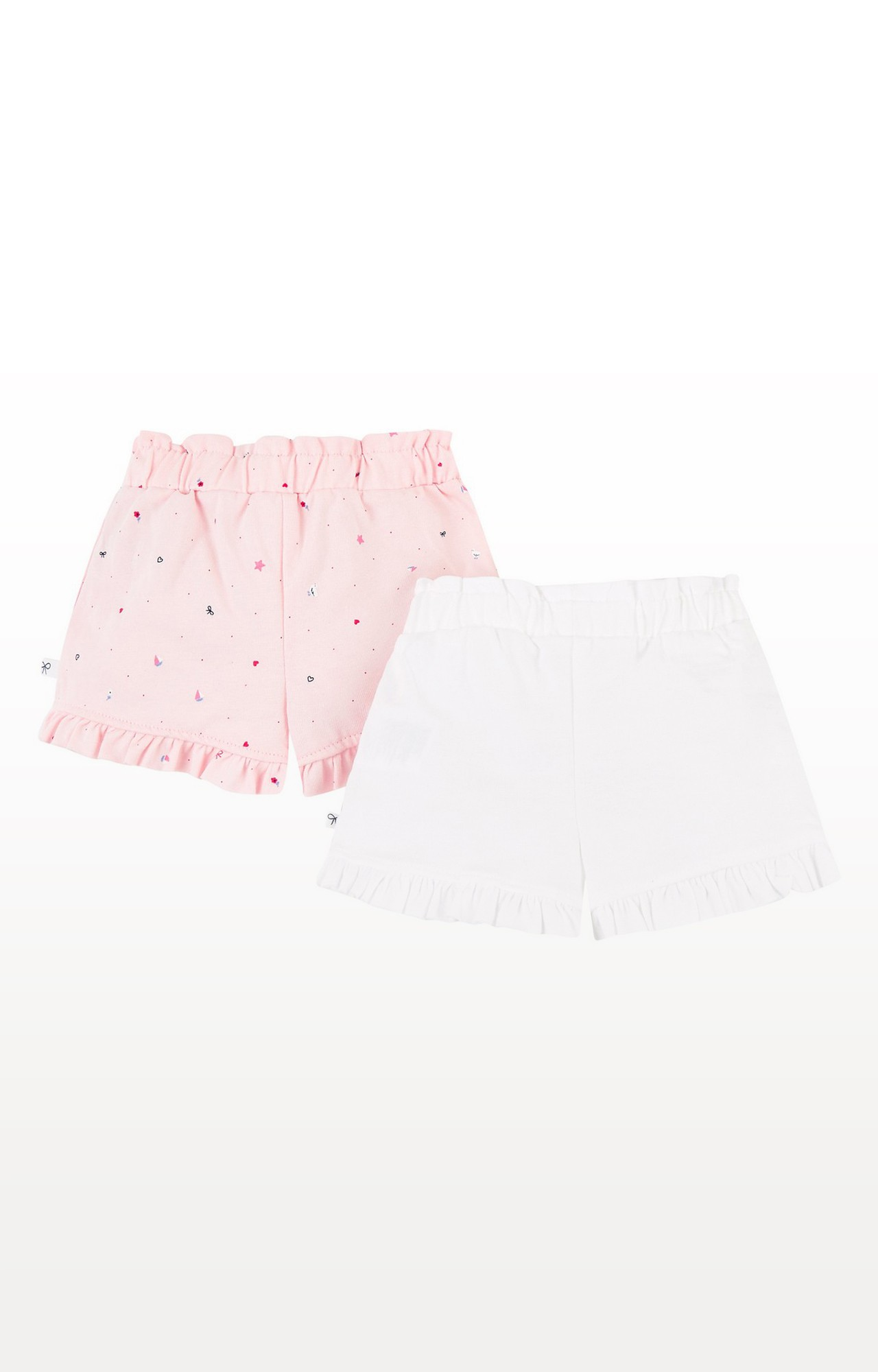 Mothercare   Pink and White Printed Shorts - Pack of 2