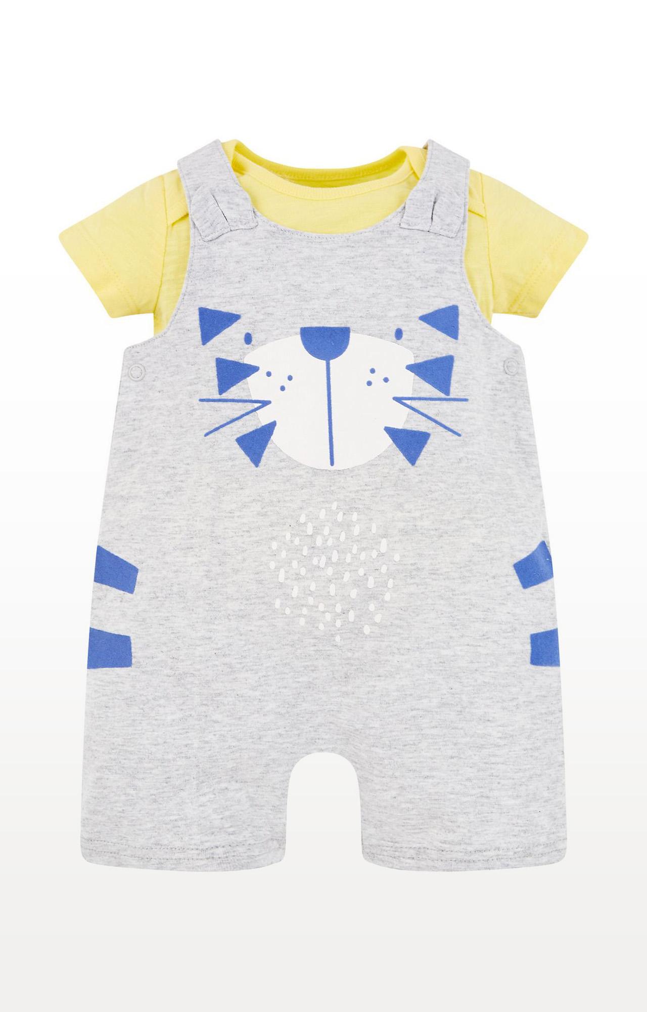 Mothercare | Grey Printed Dungaree