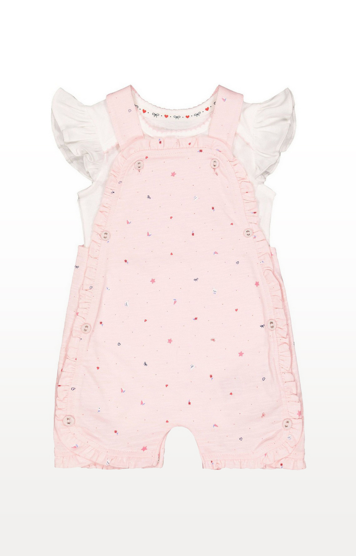 Mothercare | Pink Seaside Romper And White Bodysuit Set