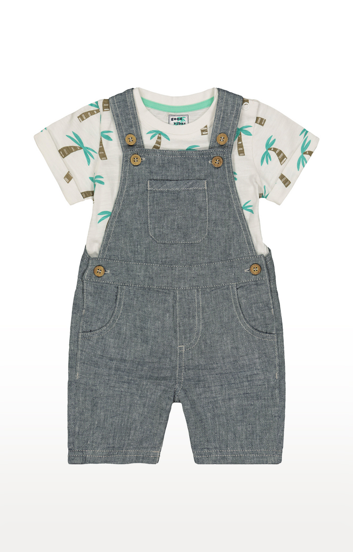 Mothercare | White and Grey Printed Twin Sets