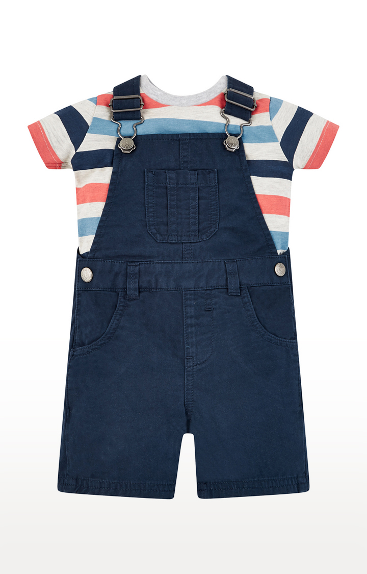 Mothercare | Multicoloured Striped Pinafore Dress