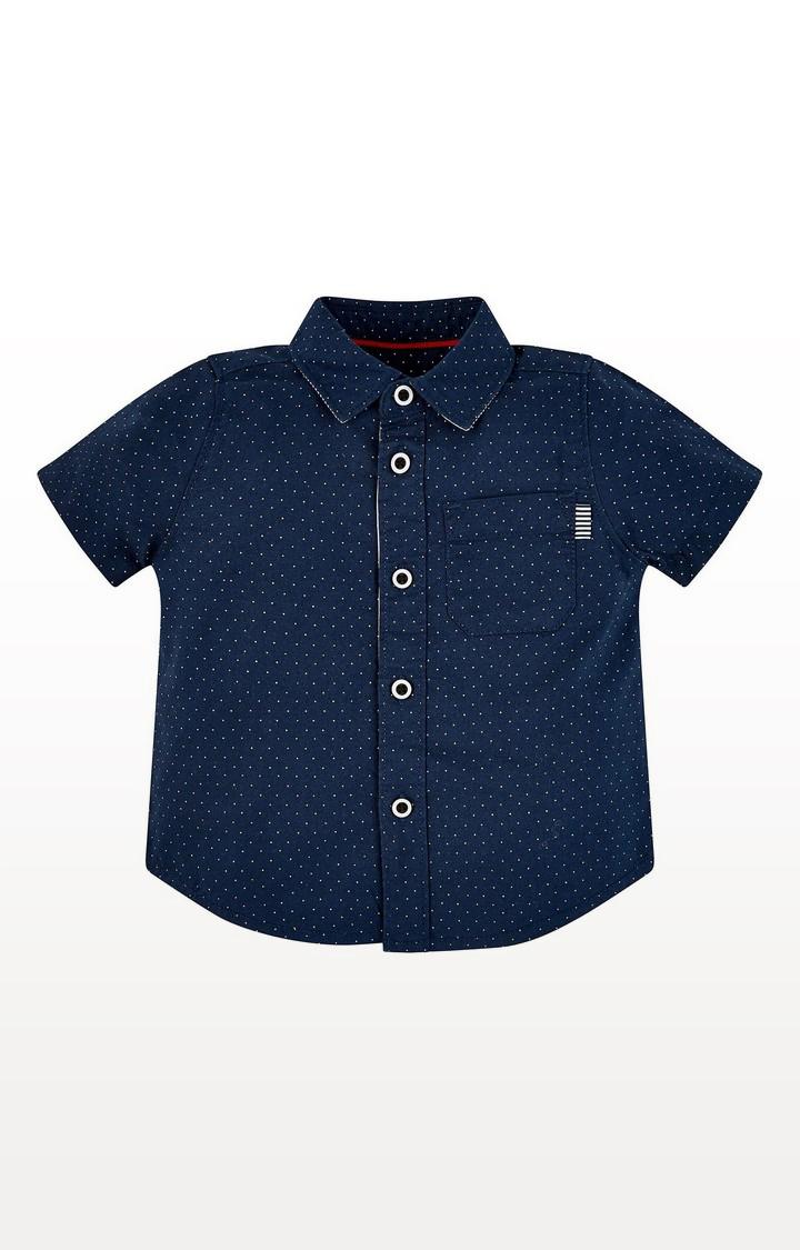 Mothercare | Navy Spot Shirt