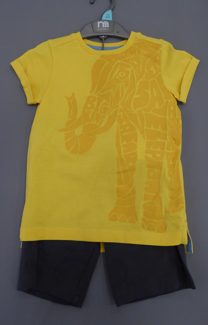 Mothercare | Yellow & Black Printed Twin Set