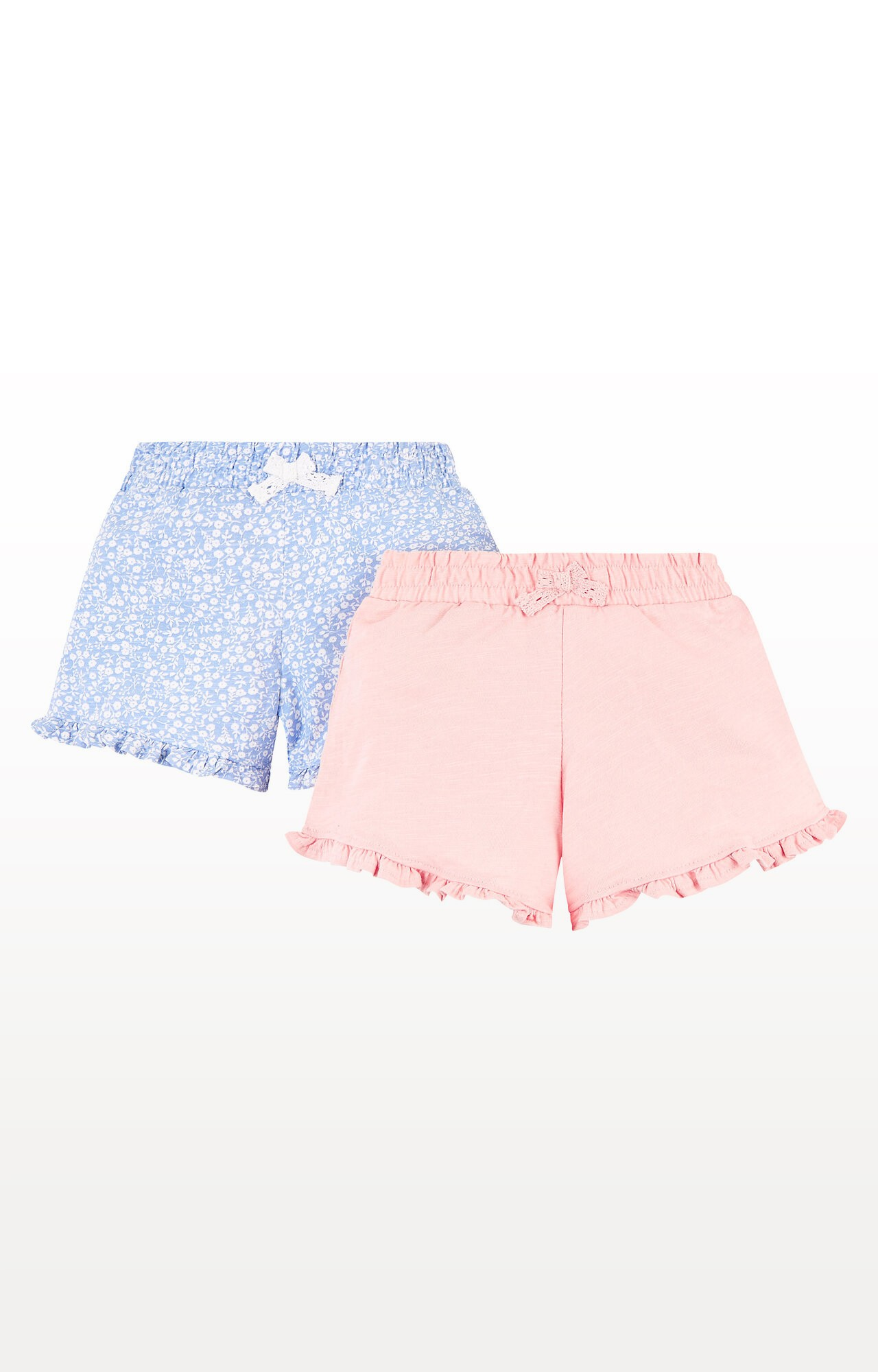 Mothercare   Pink and Floral Print Shorts - Pack of 2