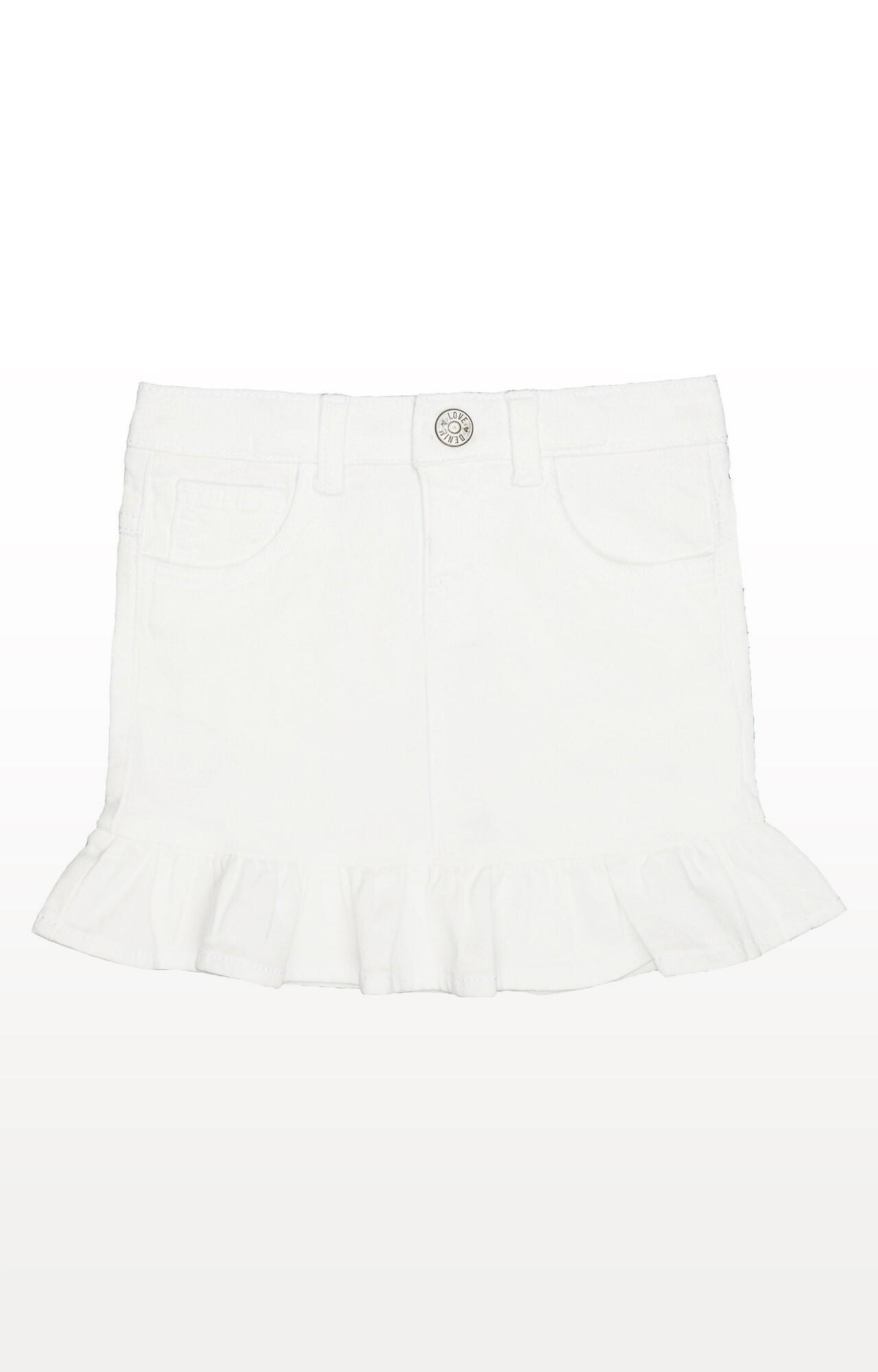 Mothercare | White Denim Skirt