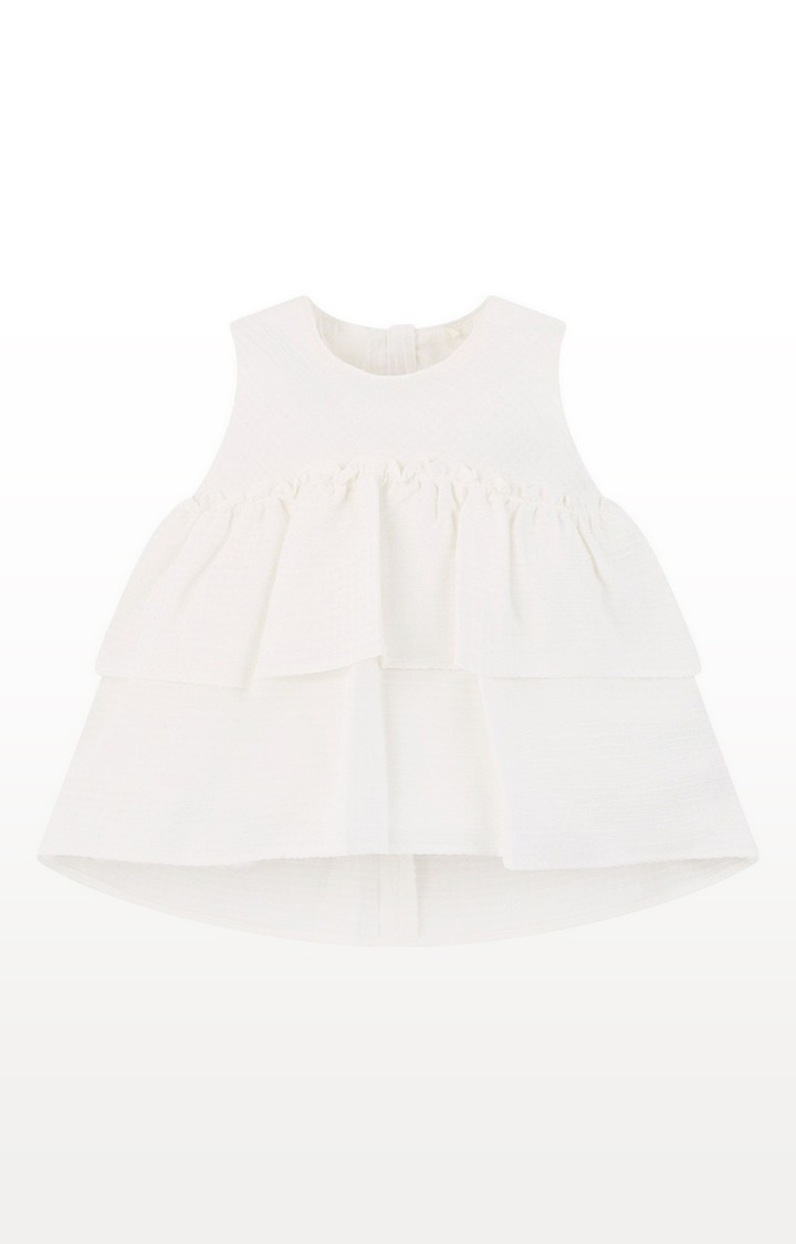 Mothercare | White Tiered Blouse