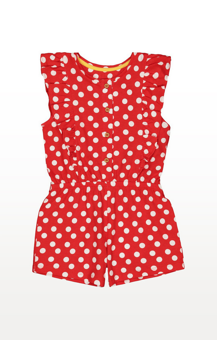 Mothercare | Red Polka Dot Playsuit