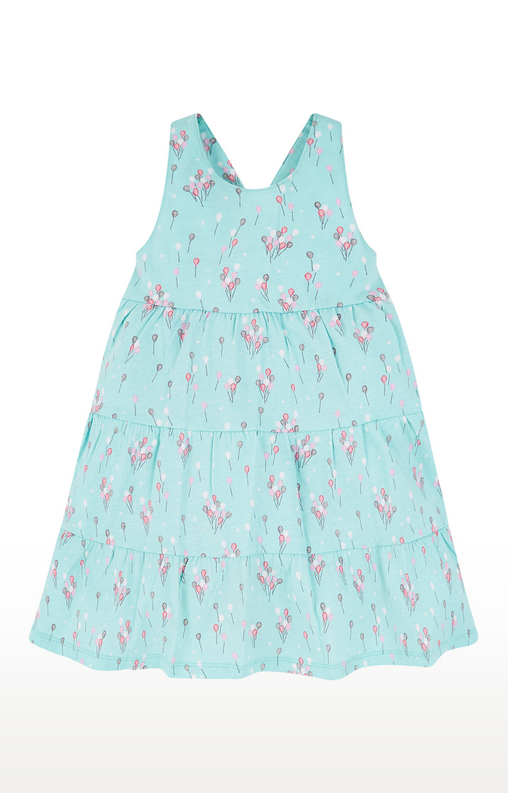 Mothercare | Blue Balloon Tiered Dress