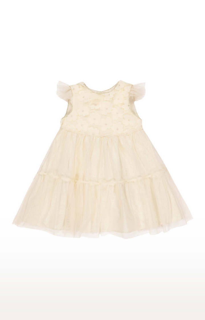 Mothercare | Flower Applique Tiered Occasion Dress