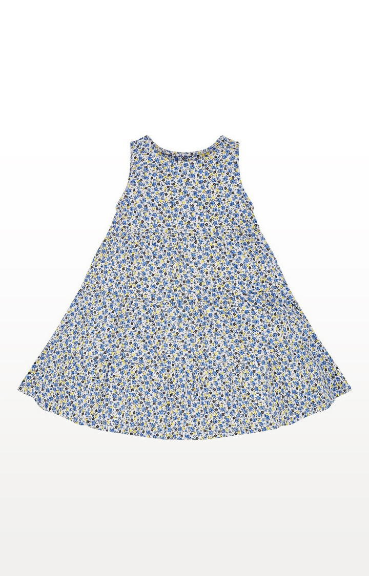 Mothercare | Blue Ditsy Tiered Dress