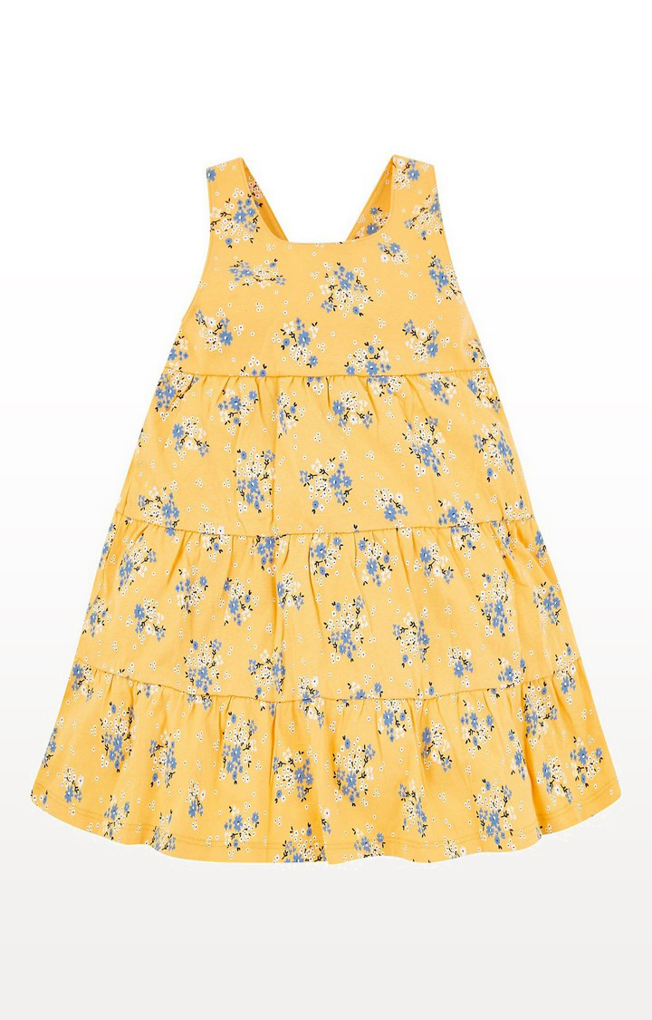 Mothercare | Yellow Floral Tiered Dress