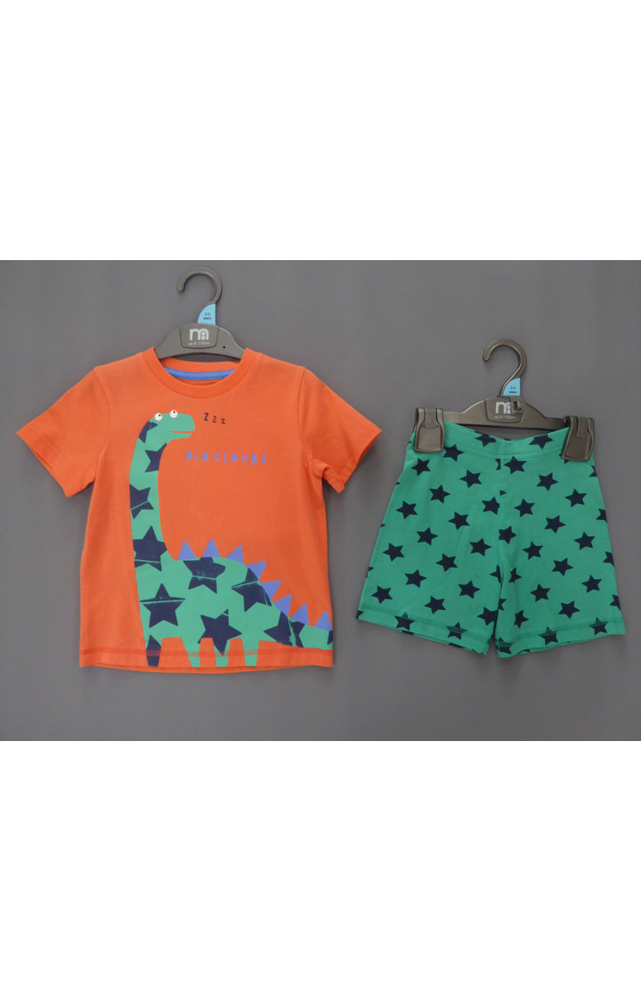 Mothercare | Orange and Green Printed Twin Set
