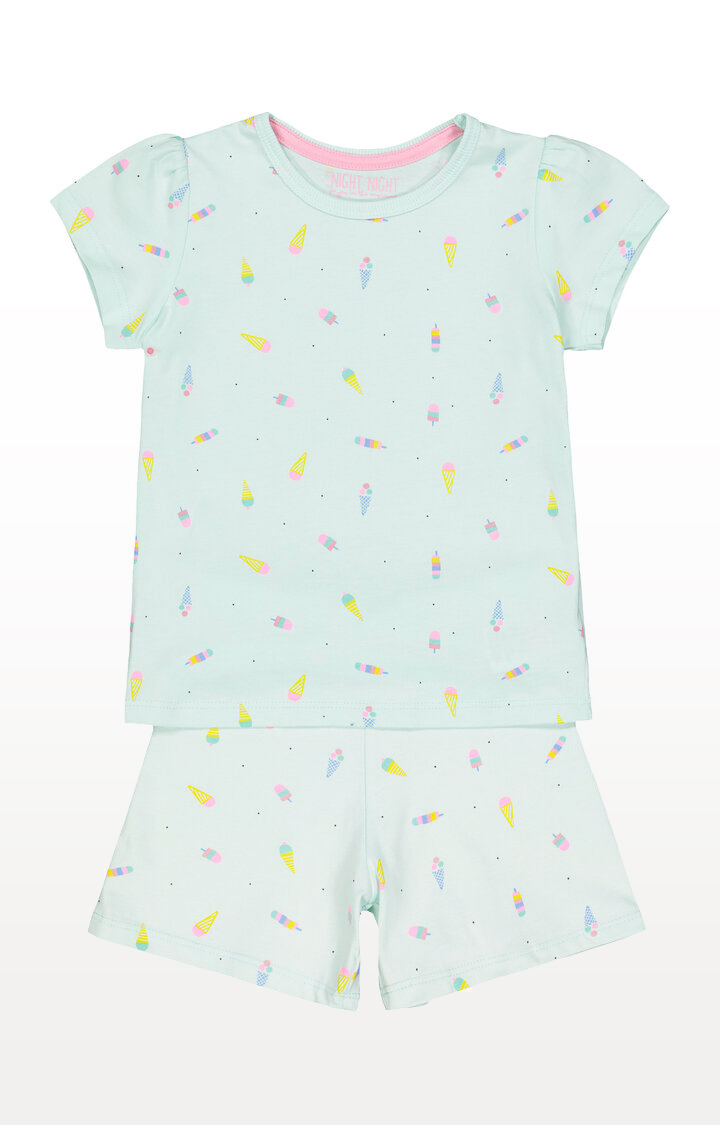 Mothercare | Ice Cream Green Shortie Pyjamas