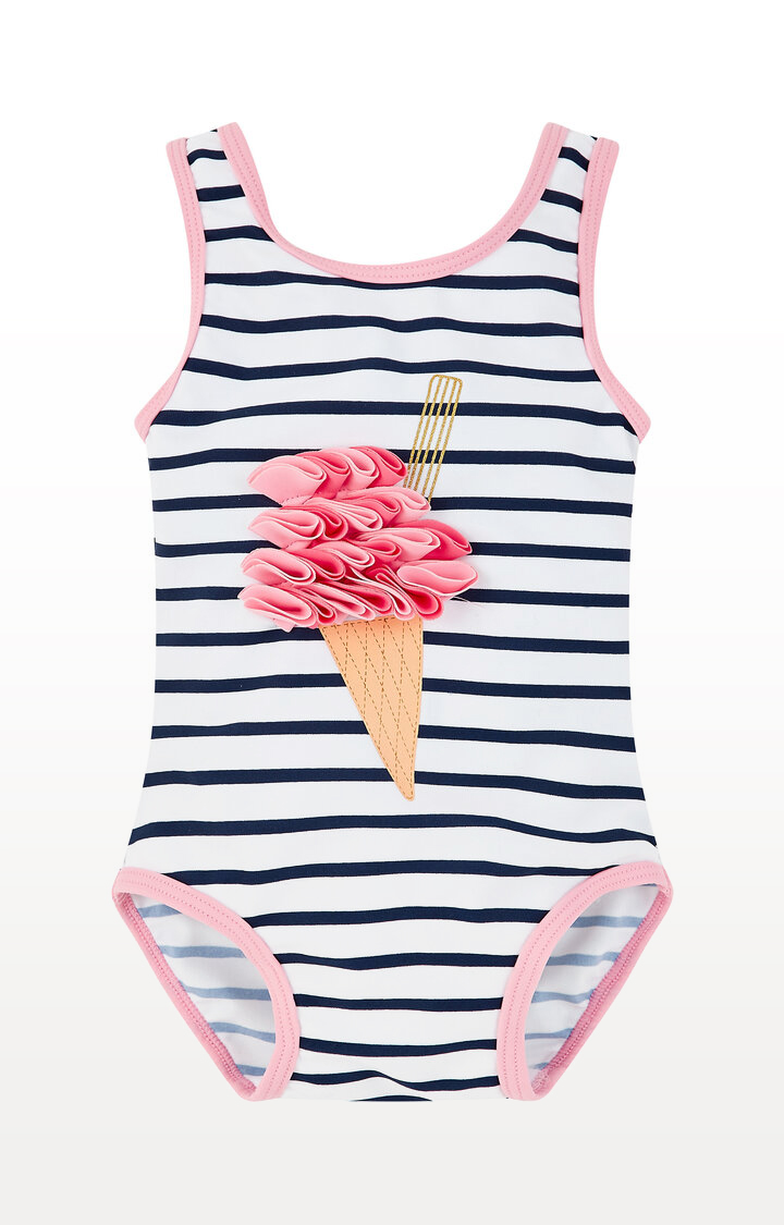 Mothercare | Stripe Ice Cream Swimsuit