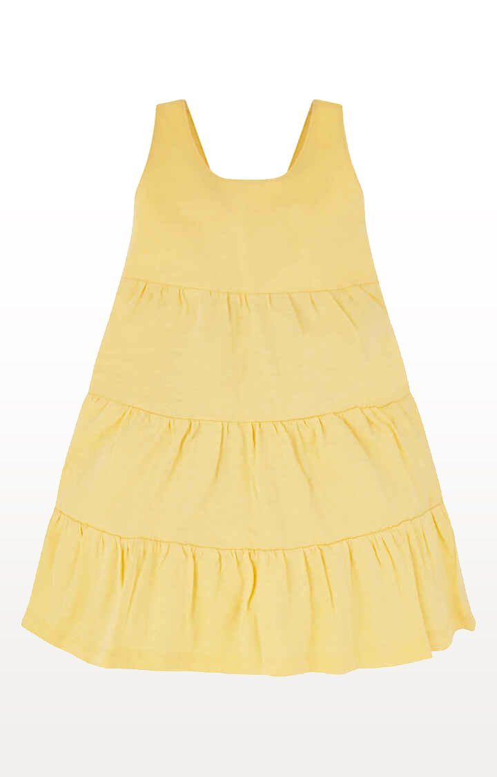 Mothercare | Yellow Tiered Dress
