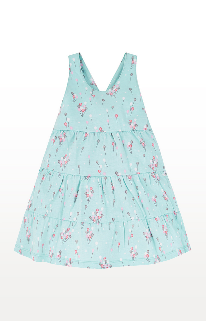 Mothercare | Blue Printed Balloon Tiered Dress