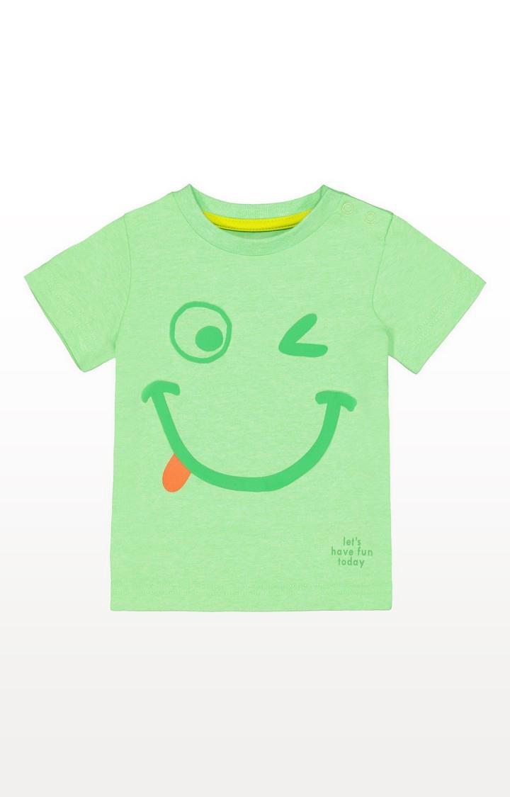 Mothercare | Green Smiley Face T-Shirt