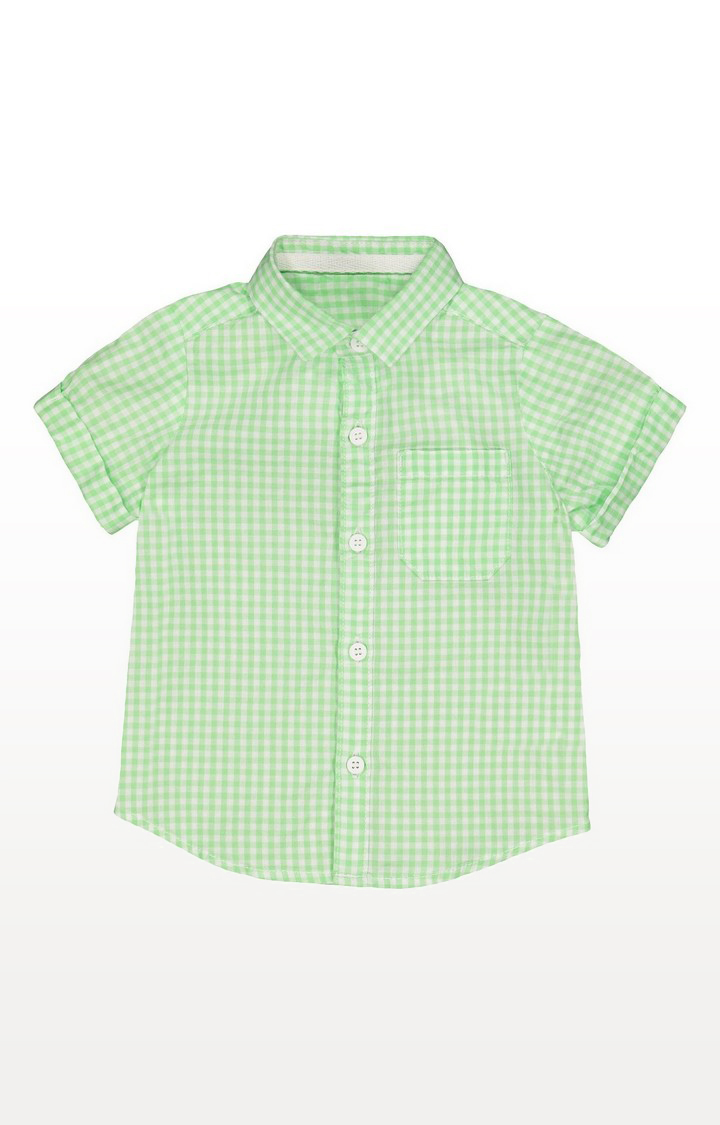 Mothercare | Green Check Shirt