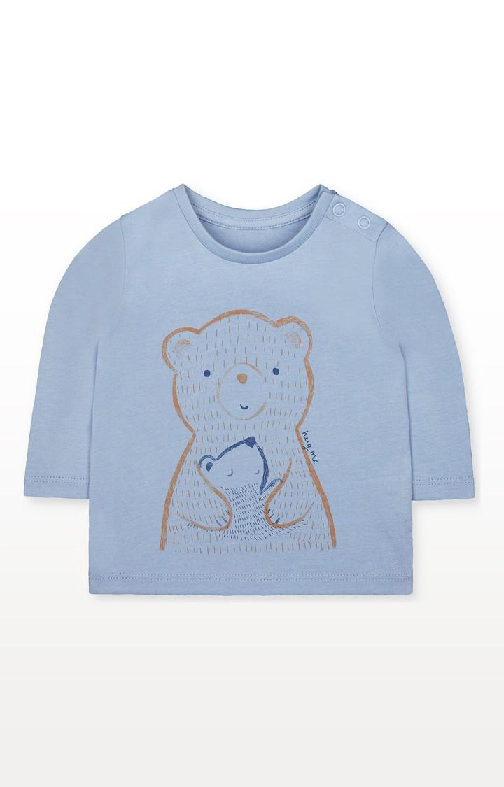 Mothercare | Blue Hug Me Bears T-Shirt