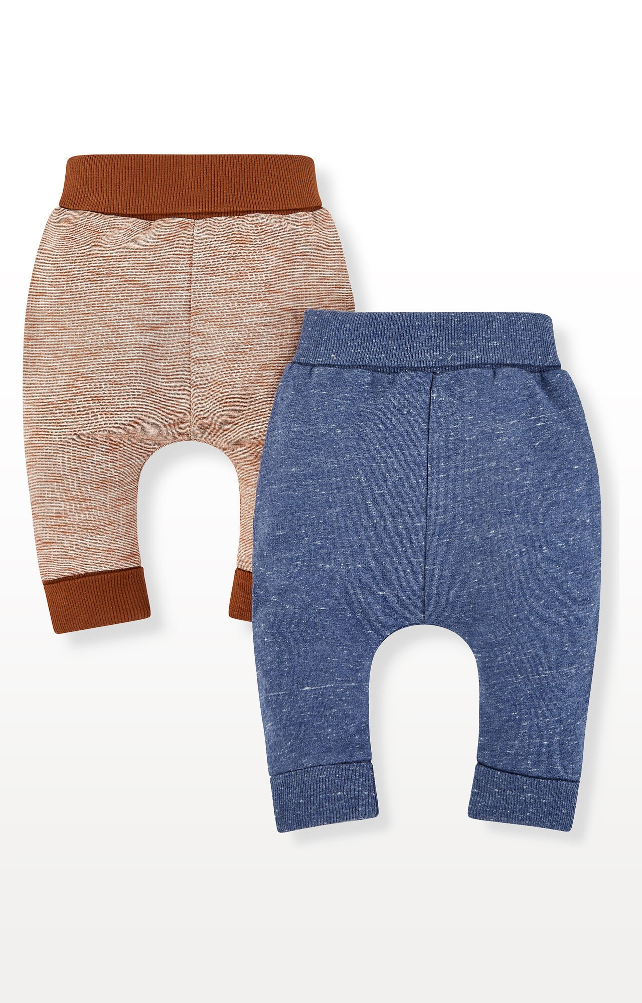 Mothercare | Blue and Brown Joggers - Pack of 2