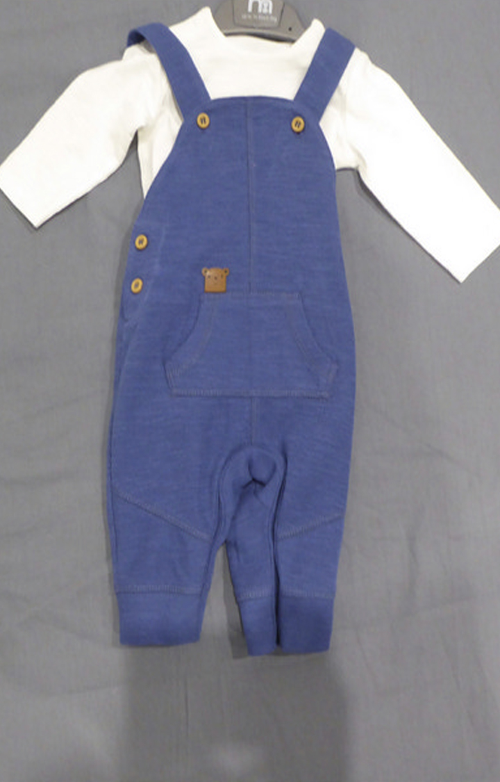Mothercare | Blue Solid Twin Set