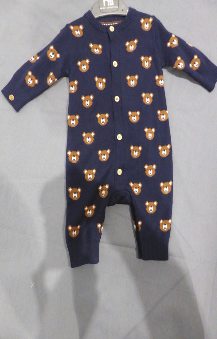 Mothercare | Navy Printed Romper